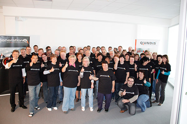 We are QUNDIS: staff celebrate the new production generation: 'Generation Q'