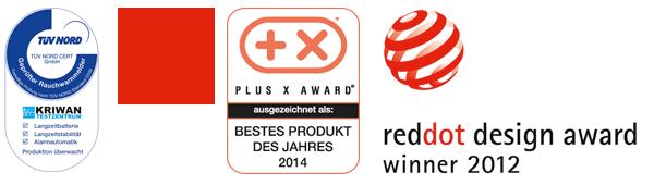 TÜV Nord, Bestes Produkt des Jahres 2014, reddot design award winner 2012