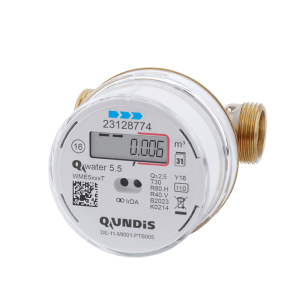 Electronic water meter Q water 5.5 from QUNDIS