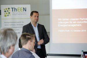 QUNDIS Geschäftsführer Dieter Berndt beim 4. ThEEN Treff